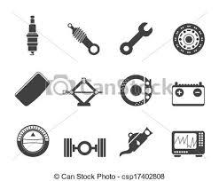 auto parts clip art.  Art Realistic Car Parts And Services Ic  Csp17402808 For Auto Clip Art