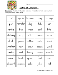 Compare and Contrast Worksheets   Page 2 of 2   Have Fun Teaching