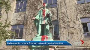 The egerton ryerson statue has been toppled by protesters. Legislature Moves Egerton Ryerson Painting Bust After Ontario Ndp Request Globalnews Ca