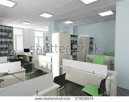 modern style office. office interior in modern style 3d rendering s