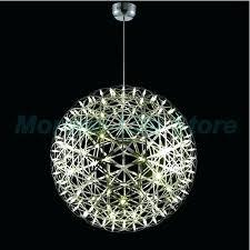 large round crystal ceiling light chandelier off aluminum big ball led modern pendants flush li