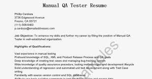 Xml Tester Resume Sample All Document Resume