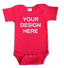 Design Your Own Baby Onesie Design Your Own Red Onesie