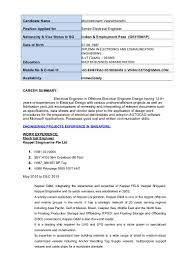 Electrical Engineer Resumes Electrical Engineer Resume 15
