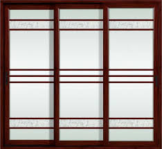 german hardware red sandalwood powder coated aluminum sliding glass doors for commercial images
