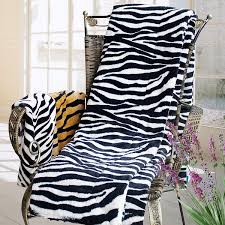 Zebra Print Throw Blanket