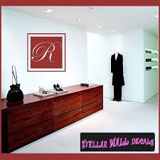 Wall Decal Quotes Mesmerizing Solid Square Border Cursive Letter R Monogram Letters Vinyl Wall