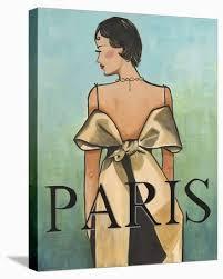 Paris' Stretched Canvas Print - Juliette McGill   Art.com