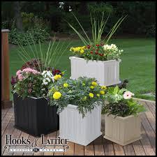 outdoor garden planters. Outdoor Garden Planters Square Planter Vinyl Deck Boxes Hooks And Lattice