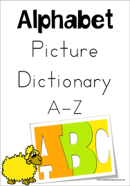 Alphabet Picture Dictionary A Z Charts Zaner Bloser Style