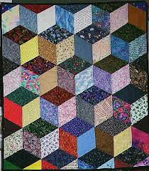 3d Quilt Patterns Delectable Free Easy Quilt Block Patterns Optical Illusiontumbling Blocks