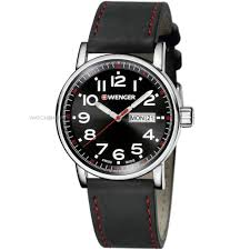 "men s wenger attitude day date watch 010341103 watch shop comâ""¢ mens wenger attitude day date watch 010341103"