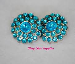 Blue <b>Rhinestone Button</b>...Blue <b>Embellishment</b>....<b>Acrylic Button</b> ...