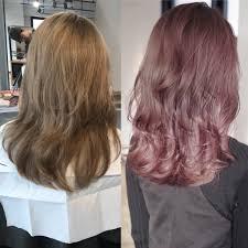 2018春夏ヘアカラーolaprexのケアブリーチを使ったホワイトピンク