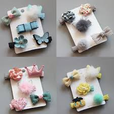 Lots <b>Floral</b> Cute Hair Star Girl <b>5Pcs</b>/<b>Set Flower</b> Barrettes Clips ...