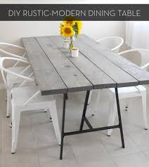 diy rustic dining room tables. Make It A Rustic Modern DIY Dining Table Curbly In Decor 25 Diy Room Tables R