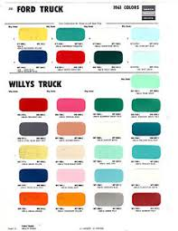 Details About 1955 1956 1957 1958 1959 1961 Chevrolet Willys Ford Gmc Truck Paint Chips 61ms2