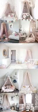 Light Pink Baby Girl Nursery Kids And Baby Room Decor Ideas Magical Pink Canopy Tent