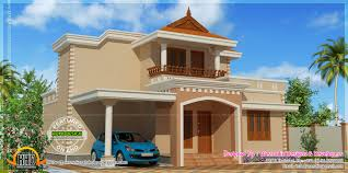 simple double storied house elevation home kerala plans