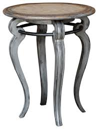 soft gray scroll leg round accent table country french wood pedestal cottage farmhouse side tables and end tables by my sy home