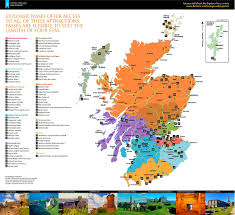 scotland tourist attractions map