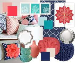 Red And Turquoise Living Room So Weve Finally Decided On Mbr Colors Navy Aqua And Coral