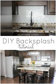 DIY Kitchen Backsplash HAWTHORNE AND MAIN Gorgeous Backsplash In Kitchen Pictures