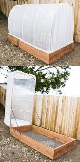 diy removable greenhouse covered raised garden bed