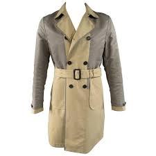 burberry prorsum men s trench coat 40 khaki jacket for