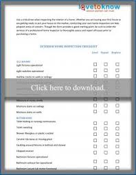 checklist for house inspection free home inspection forms lovetoknow