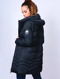 Jamarico Longline Quilted Coat with Expandable Hood in Navy ... & Jamarico Longline Quilted Coat with Expandable Hood in Navy – Tokyo Laundry Adamdwight.com