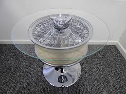 Aston Martin DB Chrome Wheel Coffee Table Jam Jar Junkies