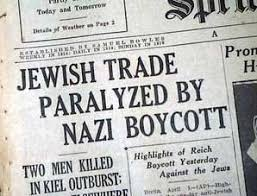 Resultado de imagen de nazi boycott of jewish businesses