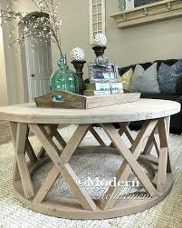 stylish farmhouse side table with gorgeous rustic round coffee white farm style full size