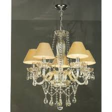 raphael chandelier champagne glass with gold silk shades