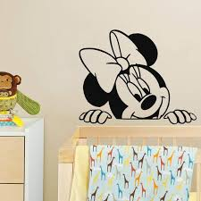 mickey mouse minnie mouse wall decal