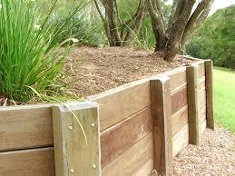 wooden garden wall trellis retaining walls