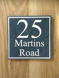 slate house number wooden house numbers slate house number house sign by on wooden house numbers