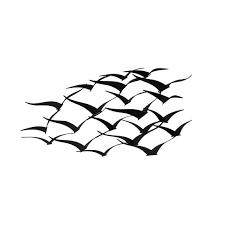 flock of flying birds weathered finish metal wall art sculpture on metal sculpture wall art birds with shop flock of flying birds weathered finish metal wall art sculpture