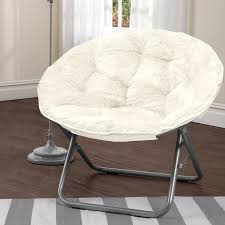 com soft spacious durable easy care white mongolian fur papasan chair adds an attractive touch to any space dorm or room kitchen dining