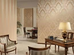 living room wonderful gold living room ideas stripes floor pattern wallpaper silver armchairs wooden desk