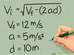 equation to find initial velocity jennarocca