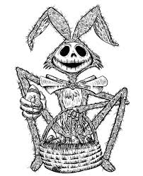 Jack Skellington Coloring Pages Easter Bunny Free Printable