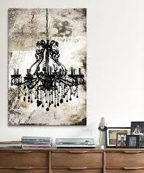 chandelier wall art chandelier canvas painting wooden cabinet books photos frame and white
