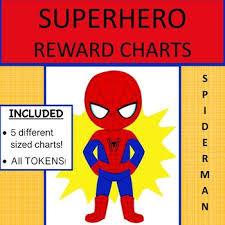 Spiderman Reward Chart Spiderman Token Charts Teaching Resources Teachers Pay