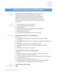 Building Maintenance Technician Resume Examples For Supervisor Mai