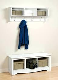 wall mounted coat rack with storage articles folding hooks tag shelf  organizer hook entryway hanging white