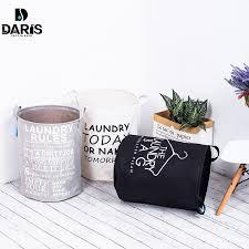 sdarisb fabric laundry basket bathroom laundry hamper storage bag bath sorter dirty toys no cover portable black white gray color plan black