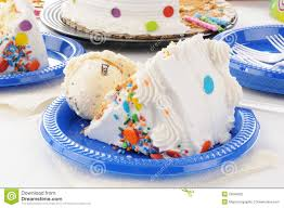 Birthday Cake And Ice Cream Stock Photo Image Of Baked Dessert