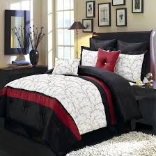 nature inspired piece ivory comforter set embroidered